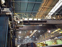 Process Cranes in a steel works