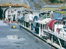 Motorkabeltrommel in Verwendung mit Tunnelbohrmaschinen